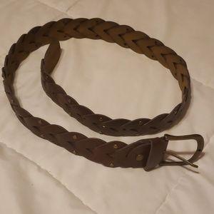 Accessories - Leather Braided Belt